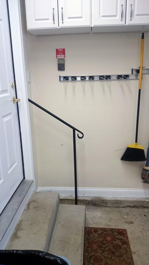 Door 2  DIY Handrail garage entry for two steps  DIY Handrails