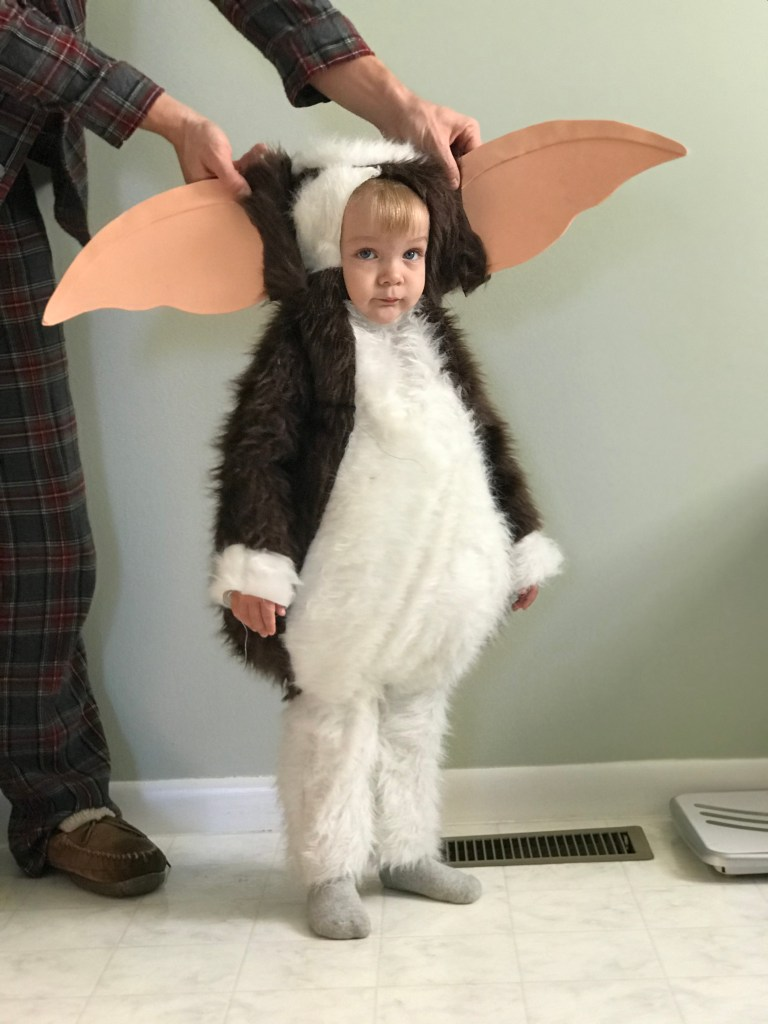 gizmo halloween costume - testing out the ears