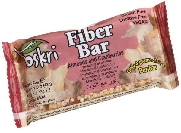 Oskri Fiber Bar - Almonds and Cranberries