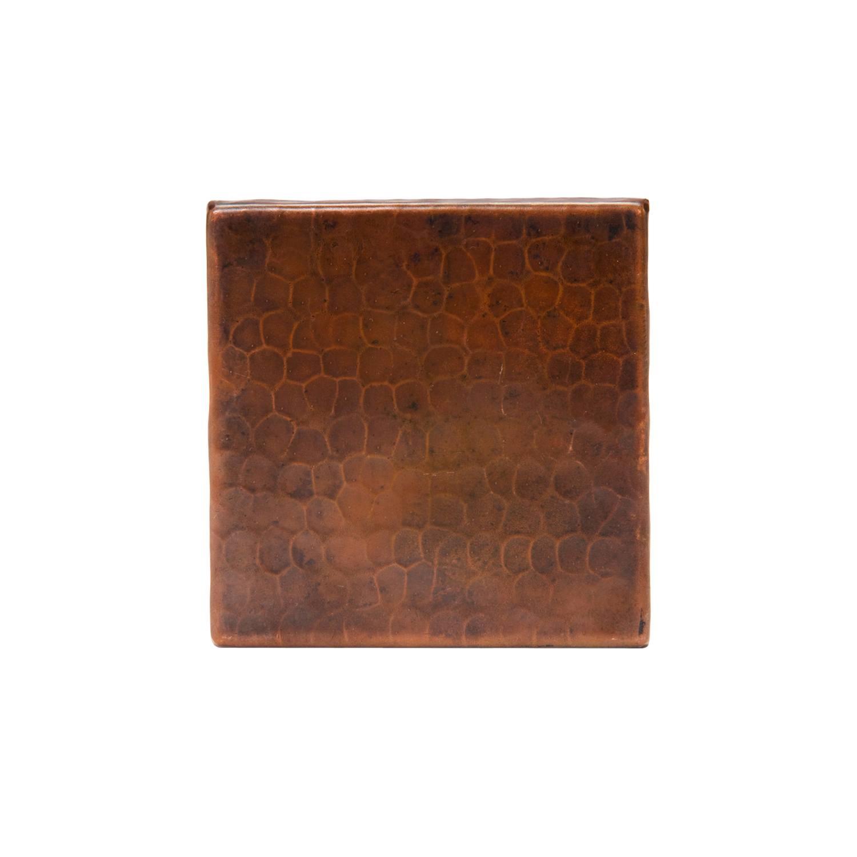 premier copper products hammered copper tile 4 x 4