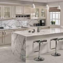 Kitchen Island Countertops Refrigerator Calacatta Marble Prima Formica Laminated Worktop