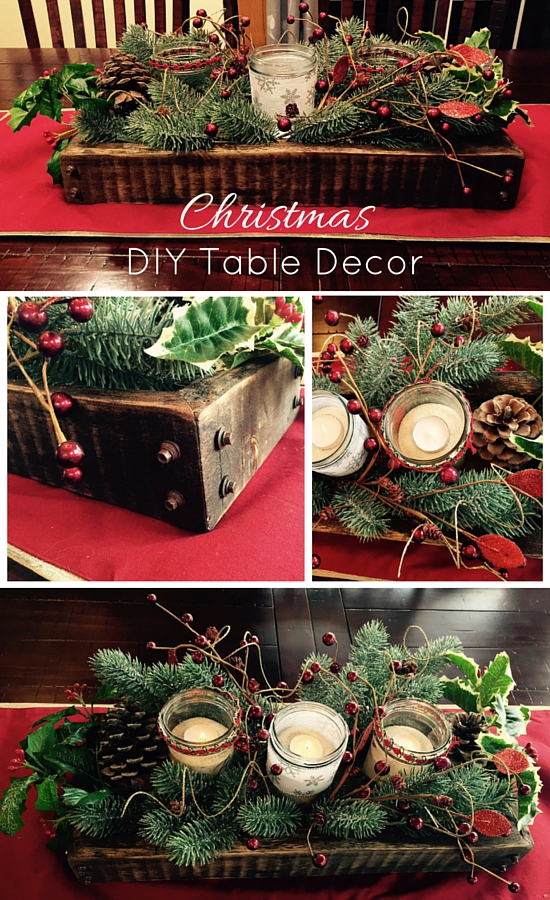 diy christmas table decor idea - Simple Christmas Table Decorations