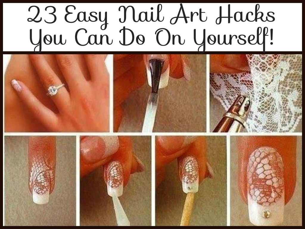 23 Easy Nail Art S You Can Do On Yourself