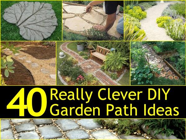 clever diy garden path
