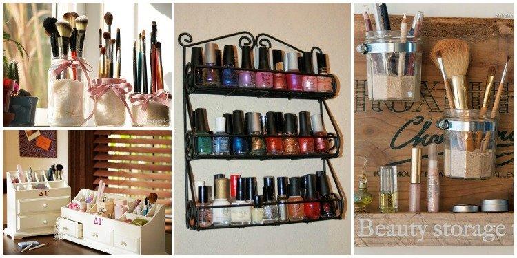 Makeup Organization Storage DIY Ideas