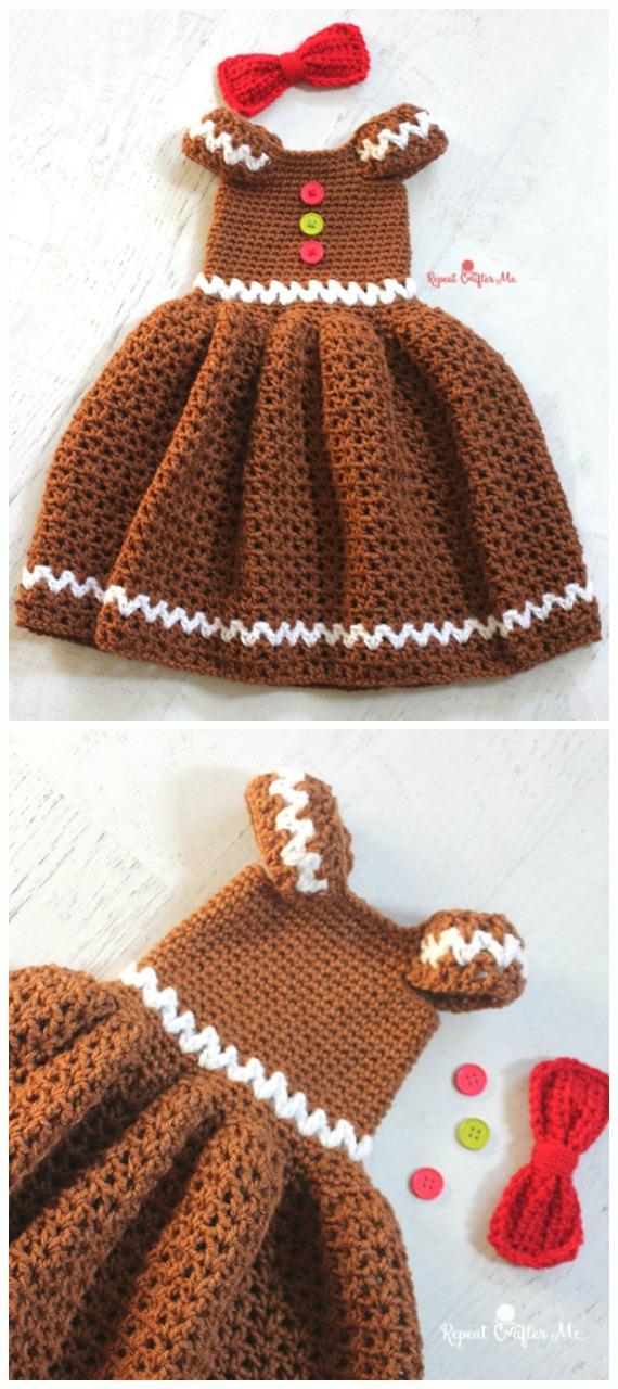 Crochet Girls Dress Free Patterns  Instructions