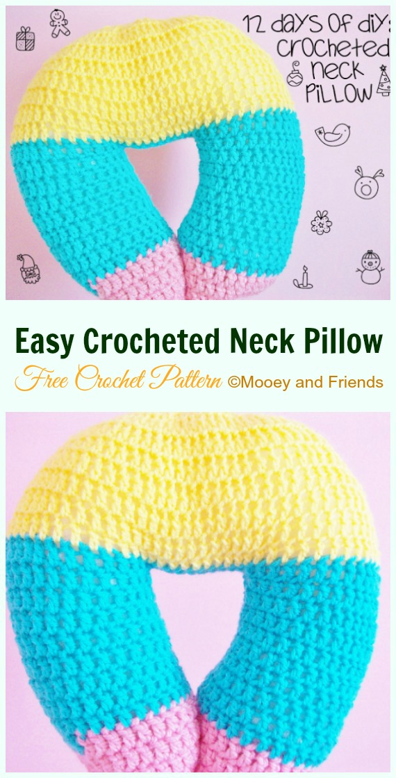 easy crocheted neck pillow free pattern