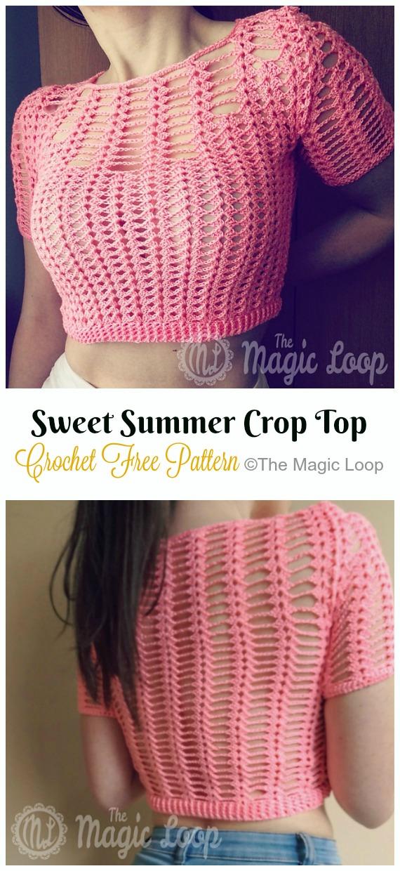 crochet women summer crop