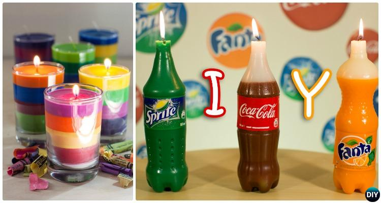 DIY Crayon Candle Ideas Crafts Picture Instructions