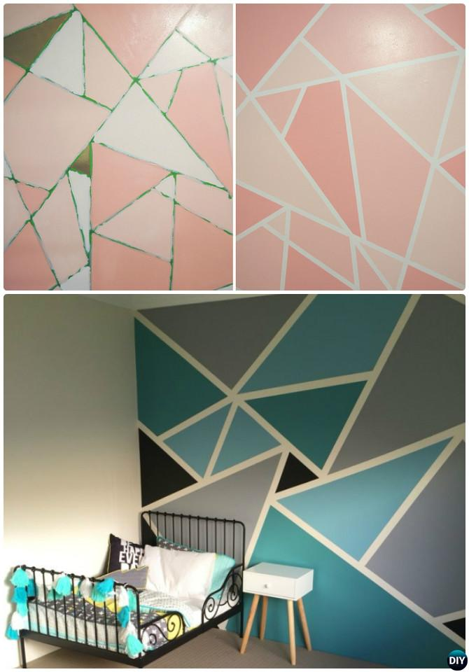 diy patterned wall painting