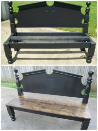 8 DIY Bed Frame Garden Bench Projects [Picture Instructions]