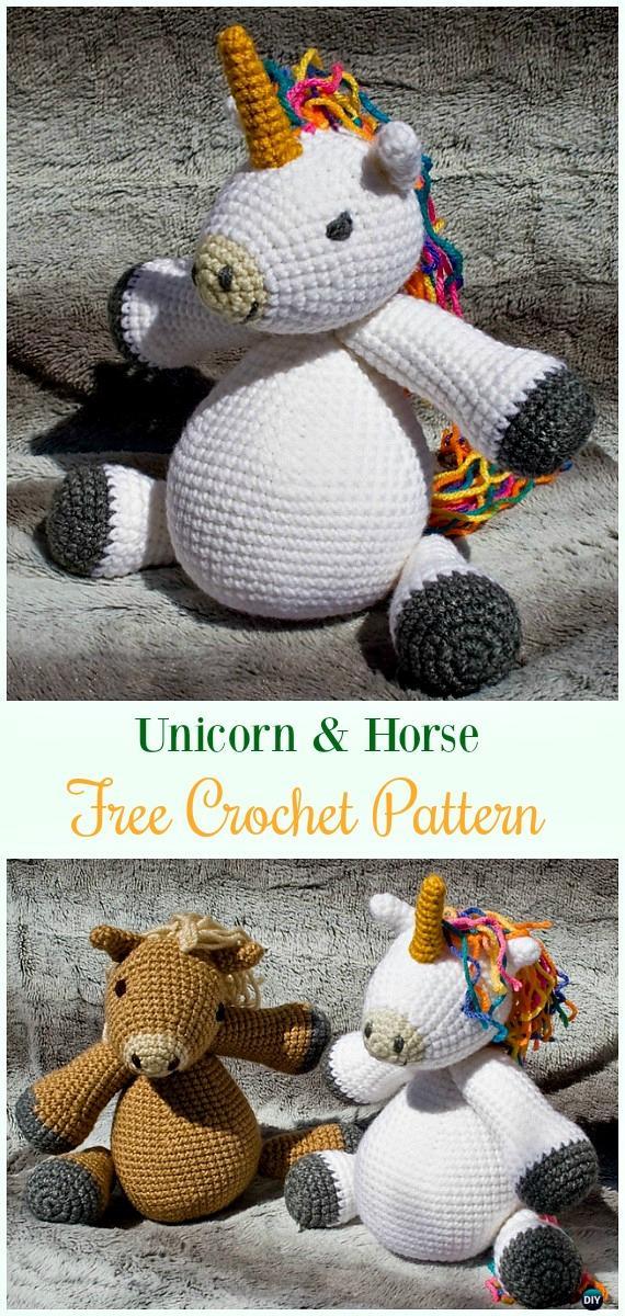 Amigurumi Crochet Unicorn Toy Softies Free Patterns