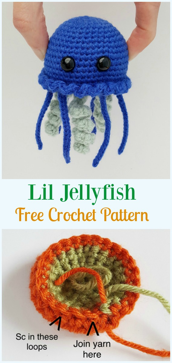 Crochet Jellyfish Free Mini Patterns