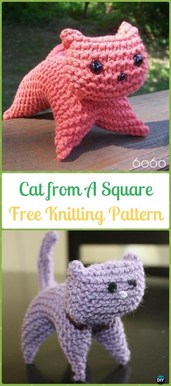 free cat knitting patterns # 86