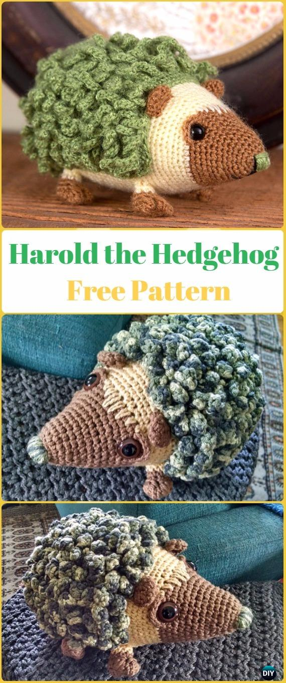 Crochet Hedgehog Amigurumi Toy Softies Free Patterns