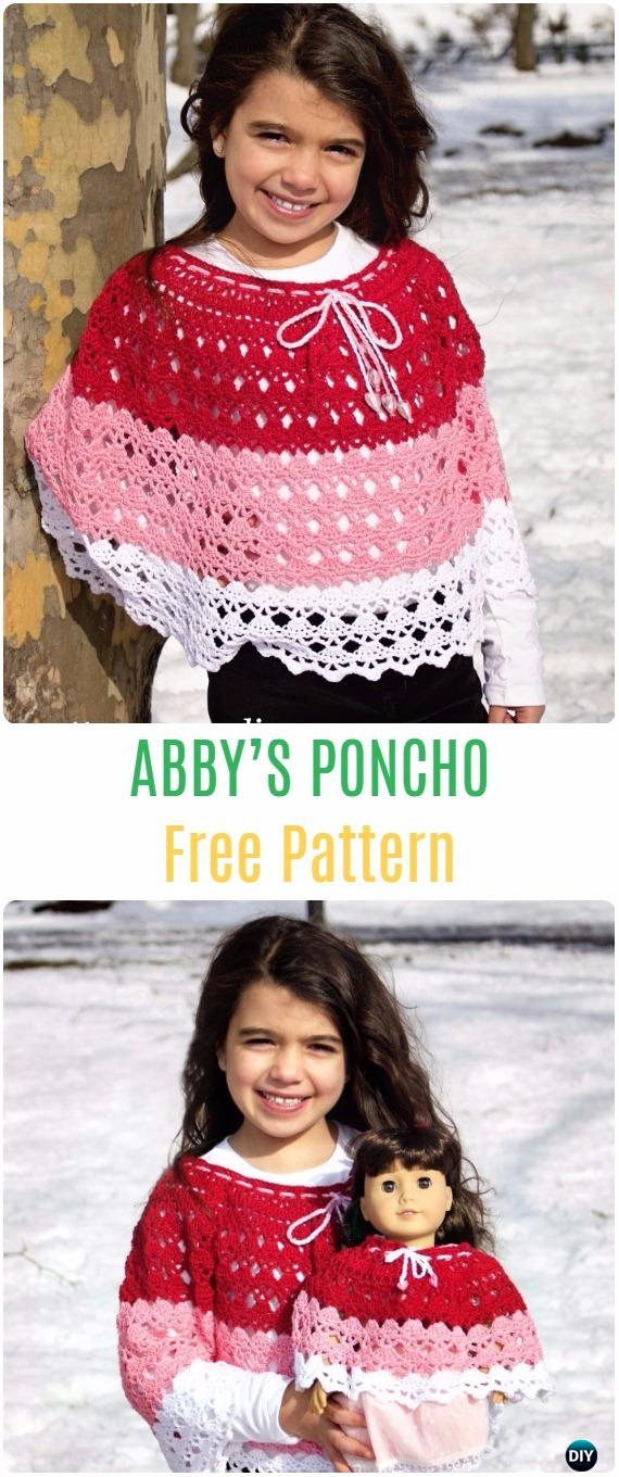 Crochet Kids Capes  Poncho Free Patterns Instructions