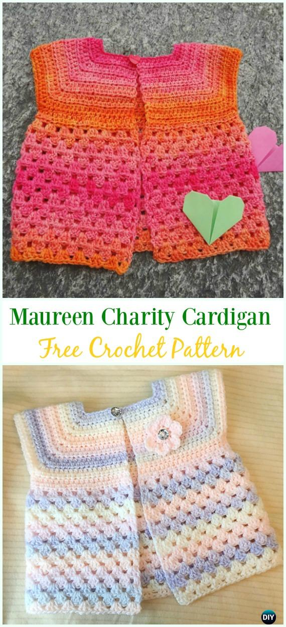 Crochet Kids Sweater Coat Free Patterns