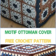 Living Room Footstool Interior Design Ideas Apartment India Crochet Poufs & Ottoman Free Patterns Diy Tutorials