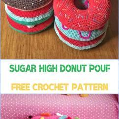 Monster High Bean Bag Chair Dining Covers Ideas Crochet Poufs & Ottoman Free Patterns Diy Tutorials