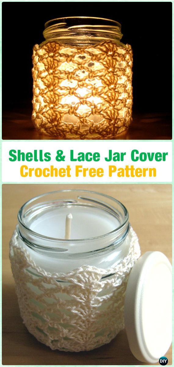Crochet Candle Jar Cozy Free Patterns