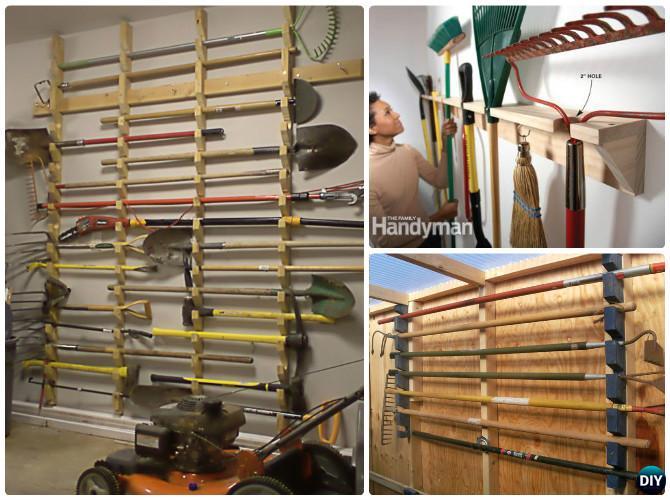 Garden Tool Organizer Storage DIY Ideas Projects Instructions