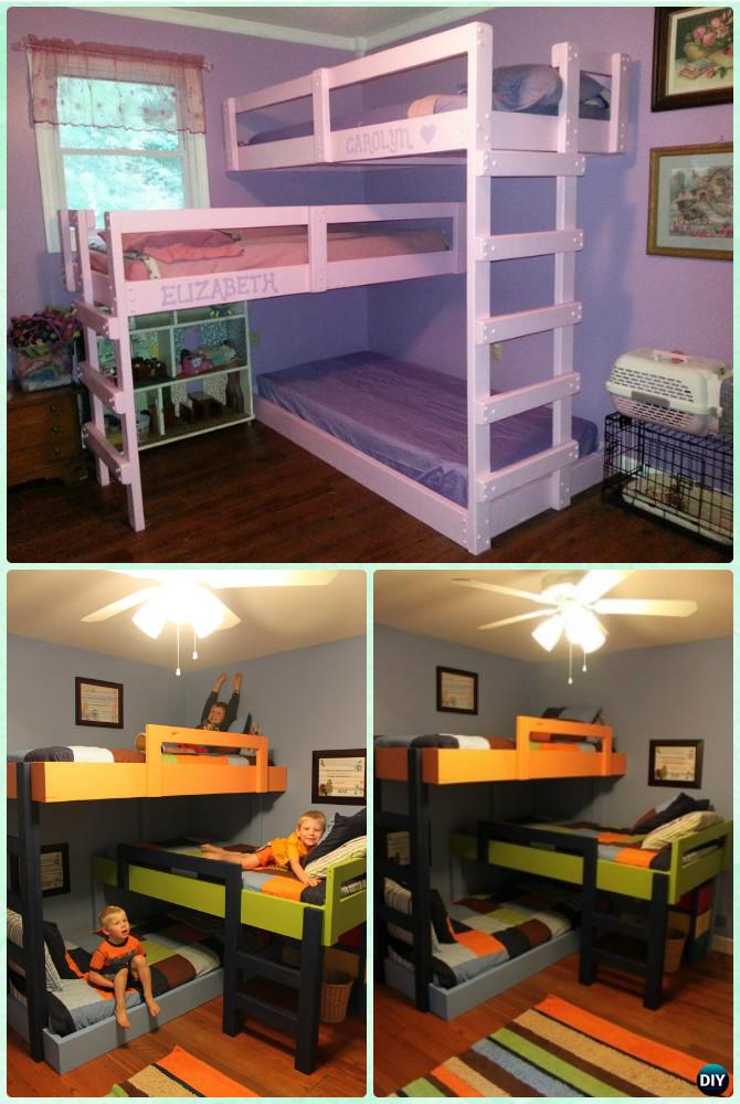 diy kids bunk bed
