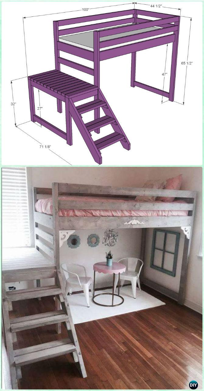 DIY Kids Bunk Bed Free Plans Picture Instructions