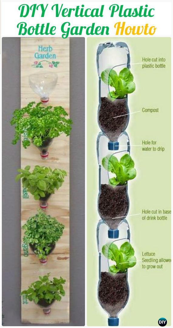 DIY Plastic Bottle Garden Projects & Ideas Picture Instructions