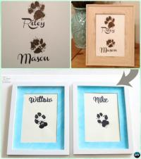DIY Puppy Paw Print Craft Ideas Projects [Instructions]