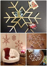 DIY Snowflake Craft Ideas Projects [Picture Instructions]