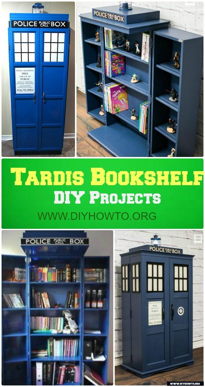 Diy Tardis Bookshelf Projects Picture Instructions