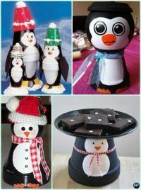 DIY Terra Cotta Clay Pot Christmas Craft Ideas Holiday ...