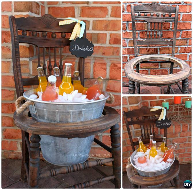 outdoor swing chair with stand deck sling replacement diy repurposed craft ideas projects [picture instructions]