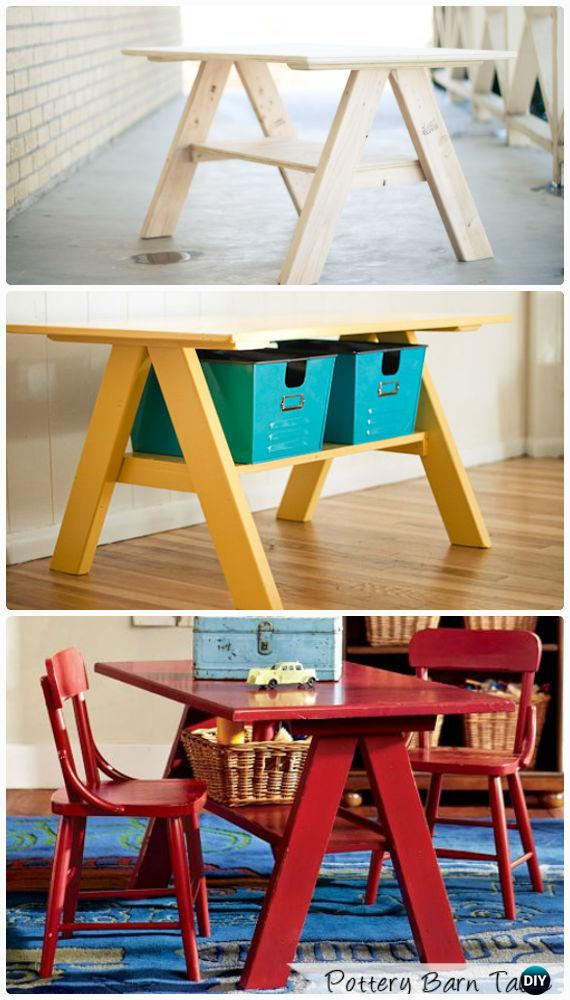 little kid table and chairs s chair replica easy diy back-to-school kids furniture ideas projects instructions