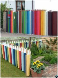 Backyard Garden Fence Decoration Makeover DIY Ideas