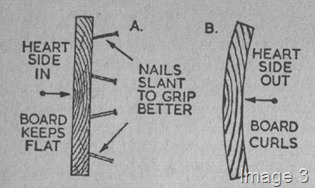 how to position nails in wood
