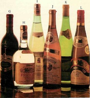 different shaped wine bottles