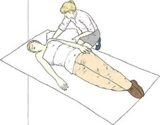 A person with burns on the back should be placed in the normal recovery position.