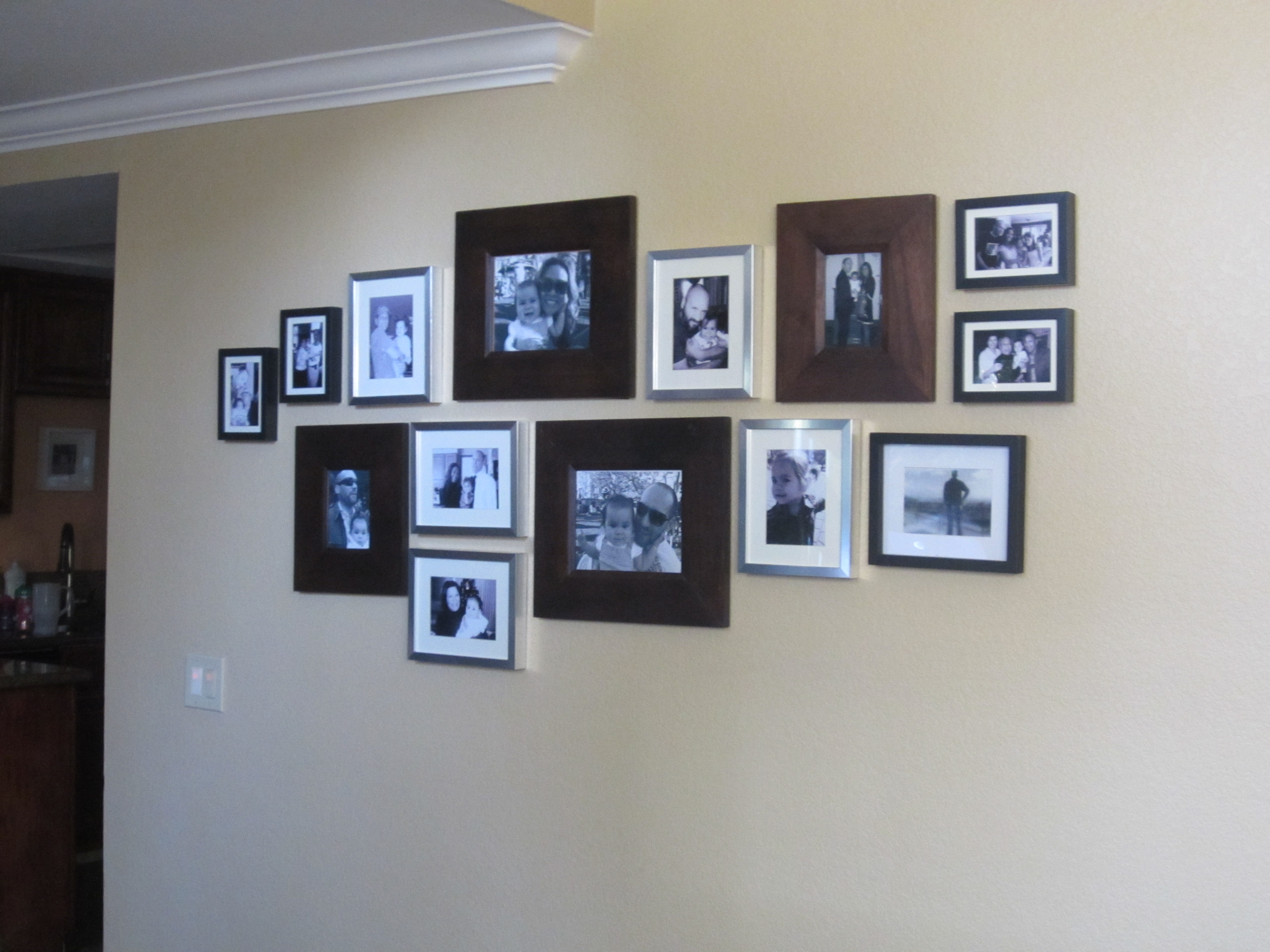 hanging pictures on the