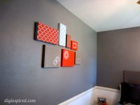 Shoe Box Lid Wall Art - DIY Inspired