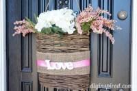 Easy Valentine Front Door Decoration - DIY Inspired