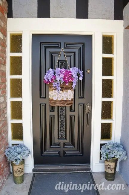 Front Door Makeover Before and After  DIY Inspired
