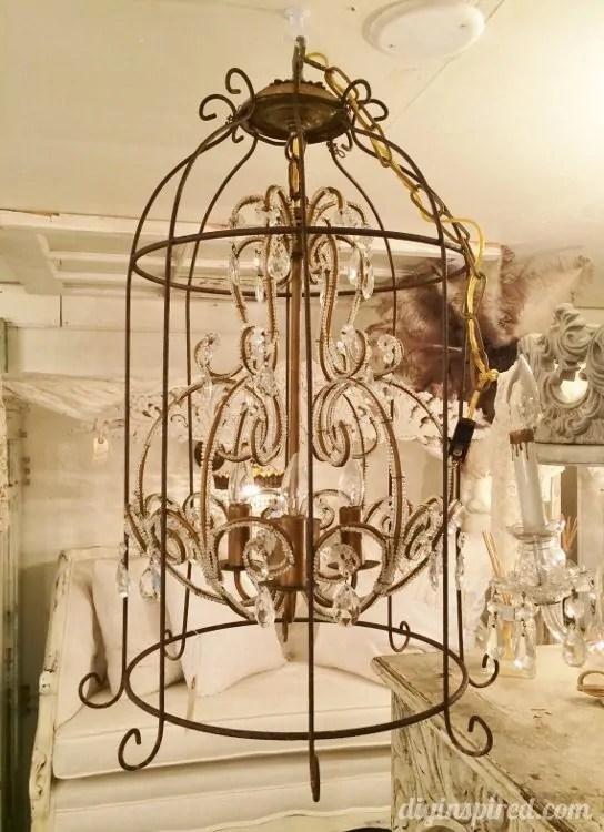 Repurposed Lighting Birdcage Chandeliers 1
