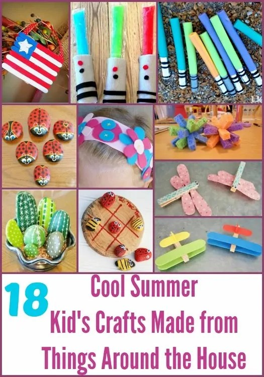 18 Cool Summer Kids Crafts Made from Things Around the House  DIY Inspired
