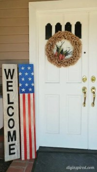 Fourth of July Front Door Decoration - DIY Inspired
