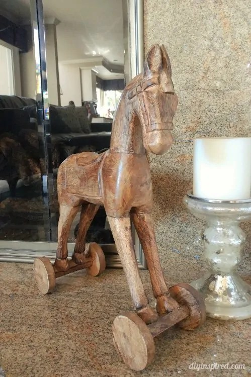 Aliexpress Com 1 Set 62 69 Inch Home Decor Wooden Horse Art Desk Creative Statue Wood Crafts For Living Room Decorative Furniture From