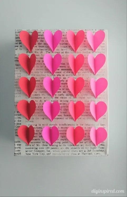 DIY Heart Wall Art DIY Inspired