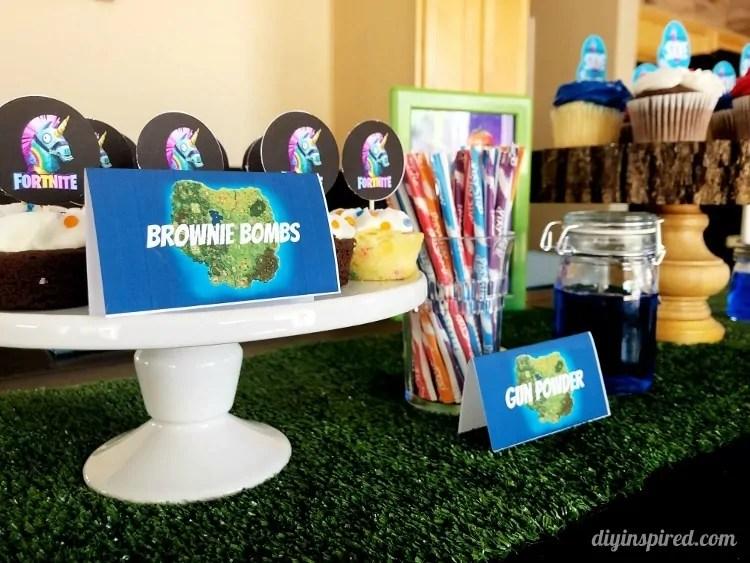 Fortnite Birthday Party Ideas DIY Inspired