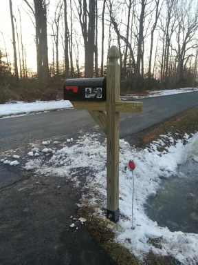 install a mailbox post in the winter