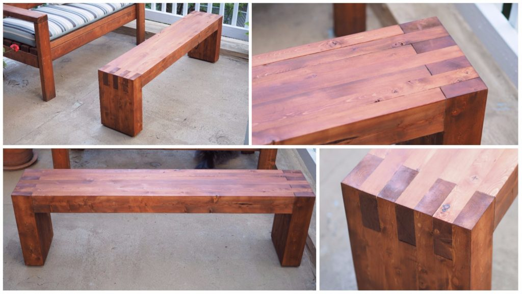 DIY Modern Outdoor Bench Made from 2x4s